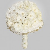 PF-320 White Gardenia Wedding Bouquet