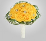 PF-420 Yellow Rose Wedding Bouquet