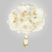 SF-520 Round Orchid Wedding Bouquet