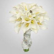 SF-540 White Calla Wedding Bouquet