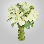 SF-620 White Tulip Wedding Bouquet