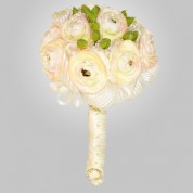 SF-640 White Ranunculu Wedding Bouquet