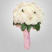 SF-580 White Peonie Wedding Bouquet