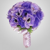 SF-600 Lavander Anemone Wedding Bouquet