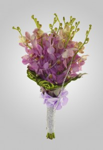 Lavander Orchid Wedding Bouquet