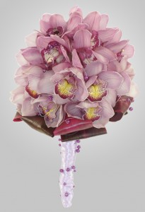 Pink Orchid Wedding Boquet